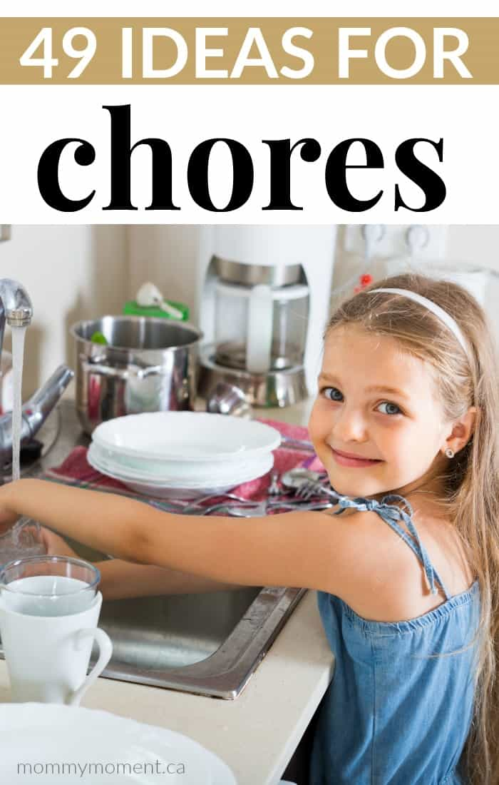 Ideas for chores for kids