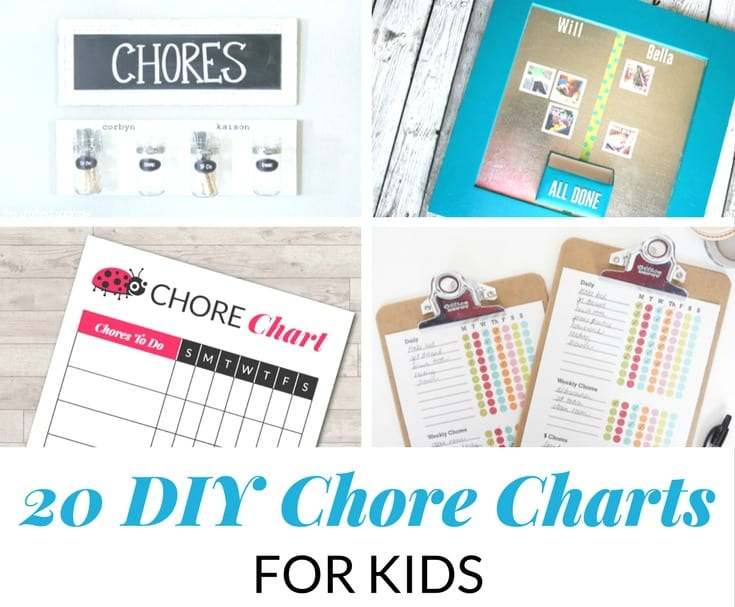 20 DIY CHORE CHARTS FOR KIDS