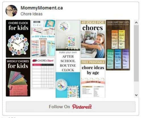 Chore Ideas Pinterest Board