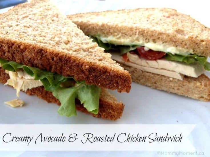 Creamy Avocado & Roasted Chicken Sandwich recipe