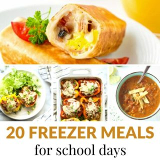 20 FREEZER FRIENDLY MEALS FOR SCHOOL DAYS