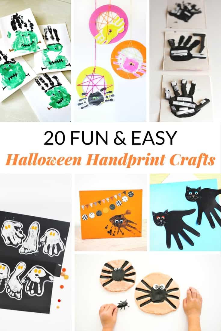 20 Fun Easy Halloween Handprint Crafts Mommy Moment