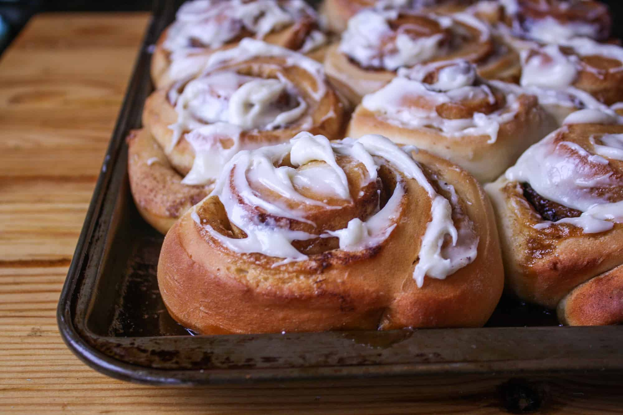 Cinnamon Buns with cream cheese frosting