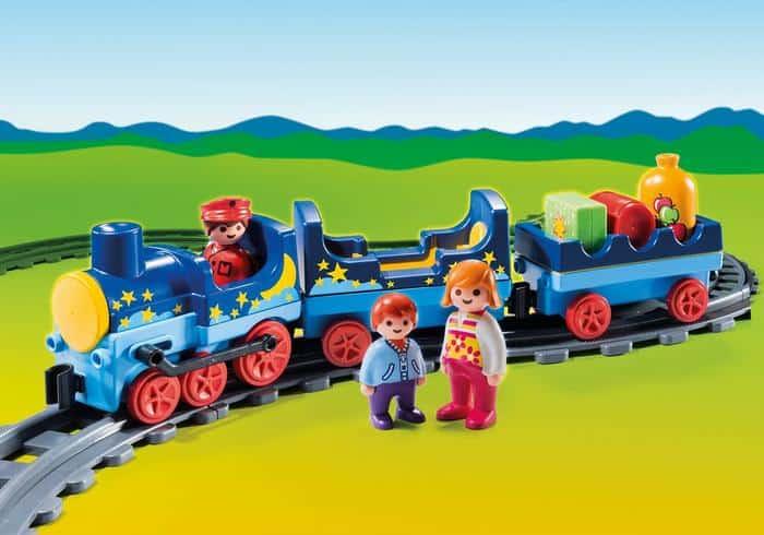 Playmobil night train with tracks