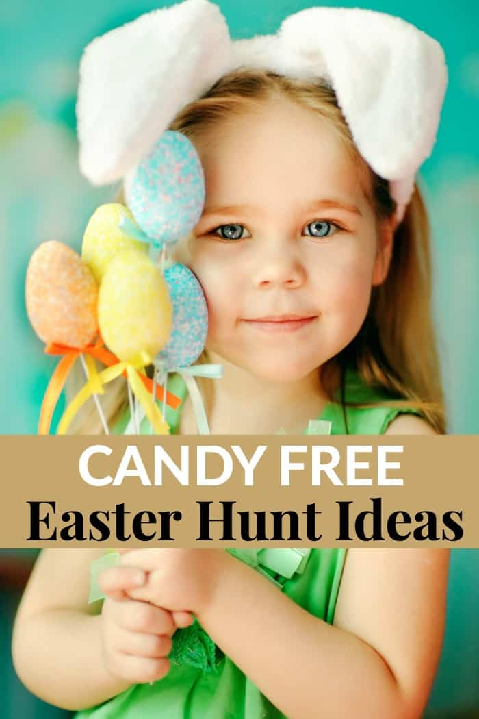 candy free easter hunt ideas
