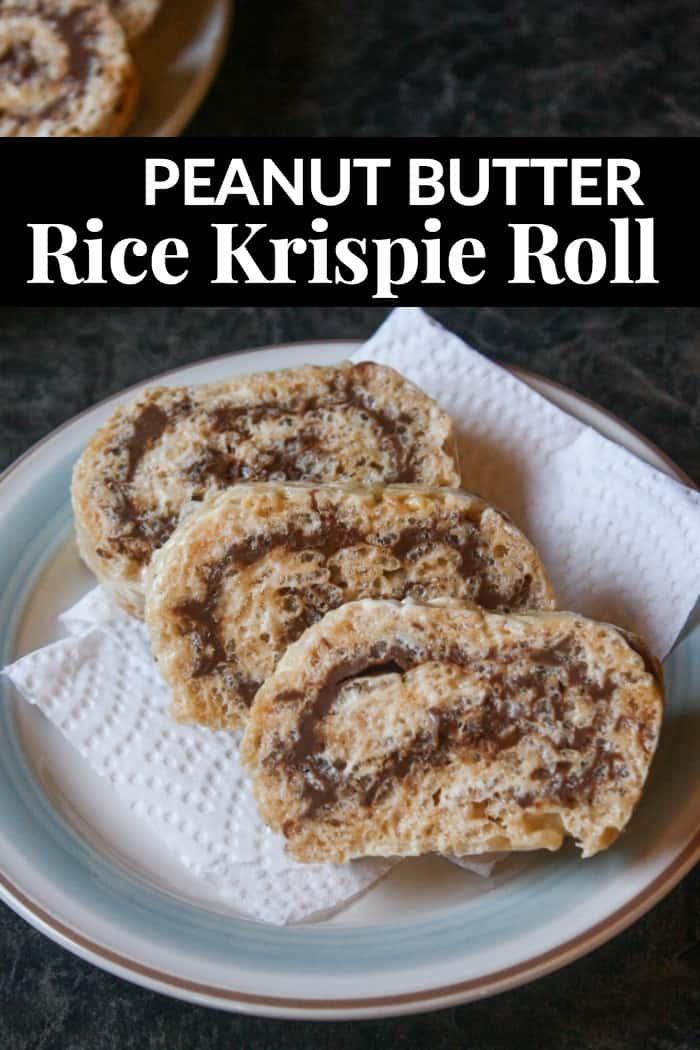 Peanut Butter Rice Krispie Roll dessert