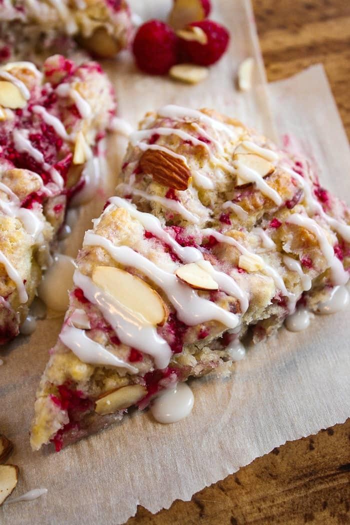 breakfast scones raspberries almonds