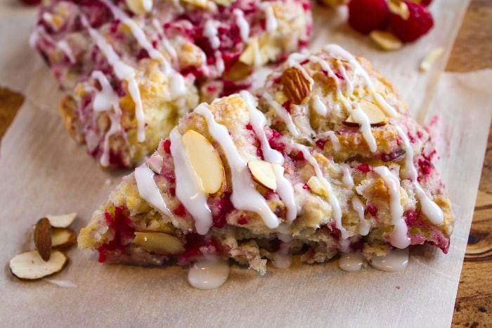 raspberry scone recipe with almonds