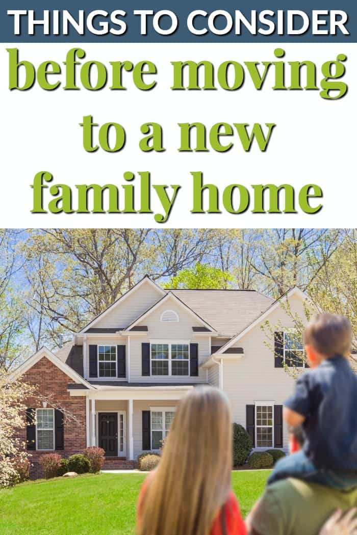 Things to consider before moving to a new home