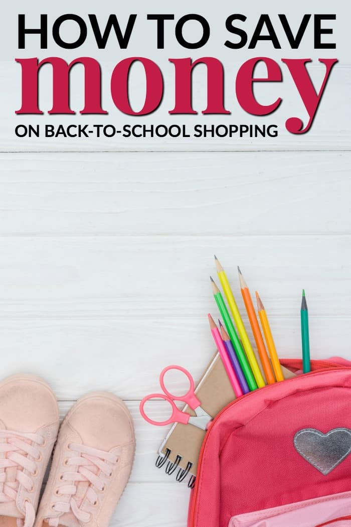 Tips on saving money on back to school shopping