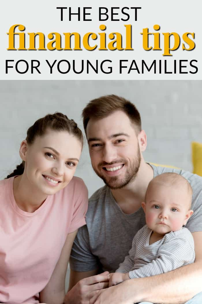 Young parents with child smiling