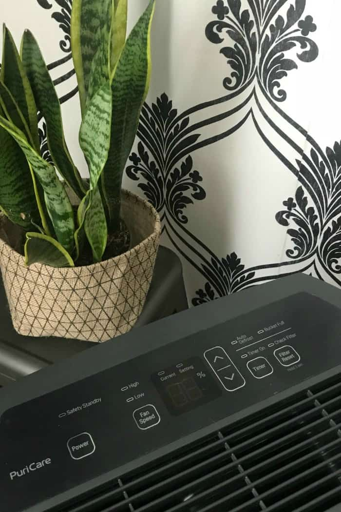 Black LG Dehumidifier to reduce allergens in your home