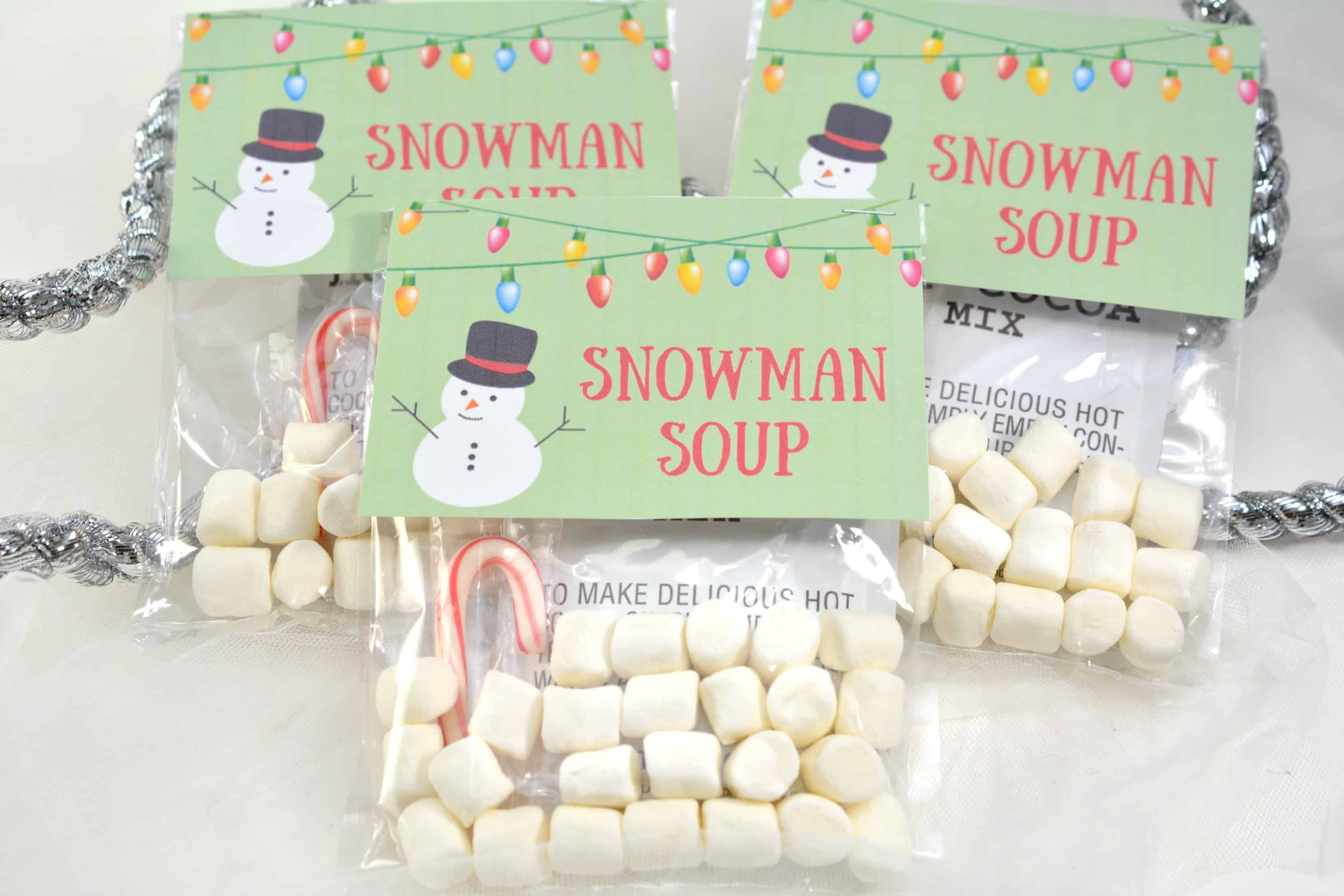 SNOWMAN SOUP HOT COCOA TREAT BAGS | Mommy Moment |Hot Chocolate Treat Bags
