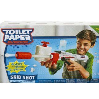 TOILET PAPER BLASTER SKID SHOT #31DAYSOFGIFTS