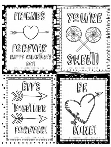 photo relating to Printable Valentines Black and White identify PRINTABLE VALENTINES Working day Playing cards Mommy Second