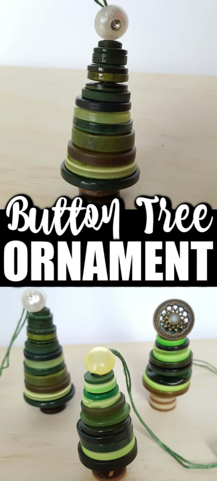 Button Christmas Tree Ornaments Mommy Moment