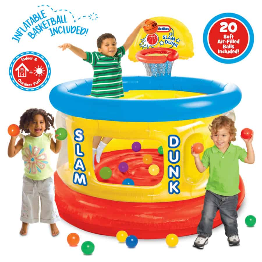 The Little Tikes Slam Dunk Ball Pit offers a safe and fun place to play.