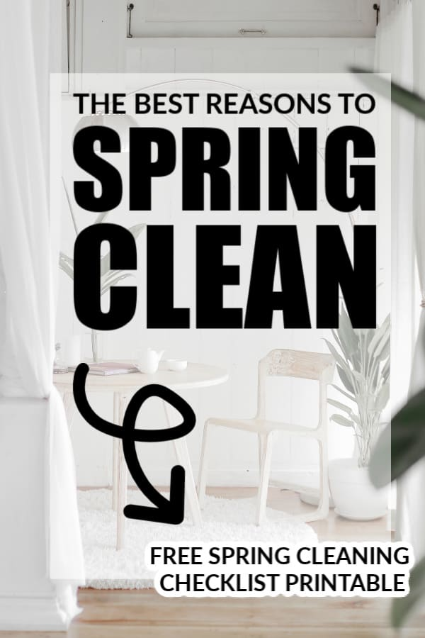 The BEST reasons to Spring Clean -- complete with a FREE Spring Cleaning Checklist printable!